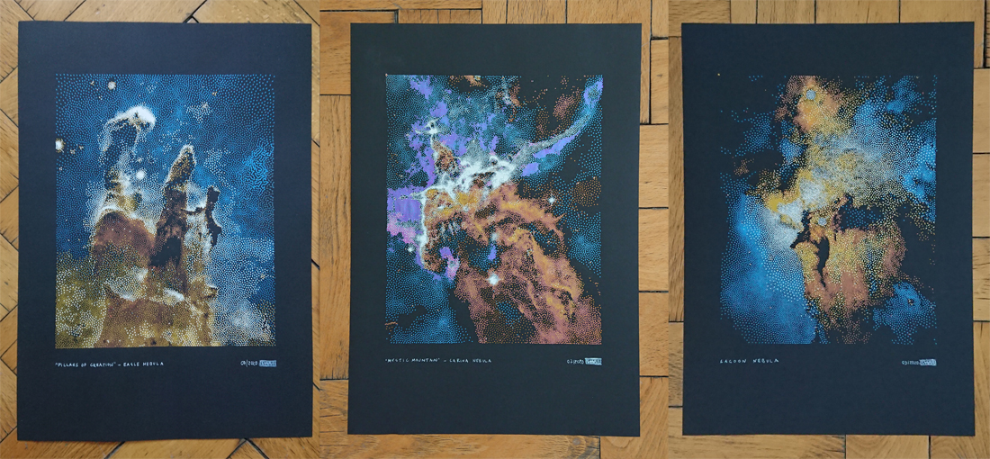 the first set of 3 nebulae