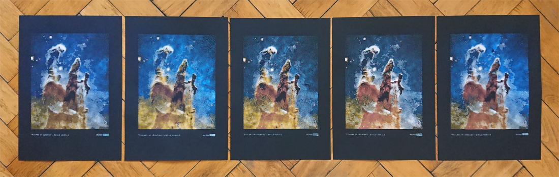 Limited Edition of 5 Pillars of Creation in the Eagle Nebula